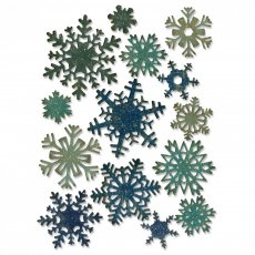 661599 Sizzix Thinlits Die Set 14PK - Paper Snowflakes, Mini