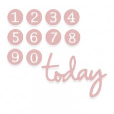 662577 Wykrojnik Sizzix Thinlits-Dainty Birthday Numbers / cyfry