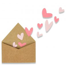 662597 Wykrojnik Thinlits -  With Love Envelope w/Hearts