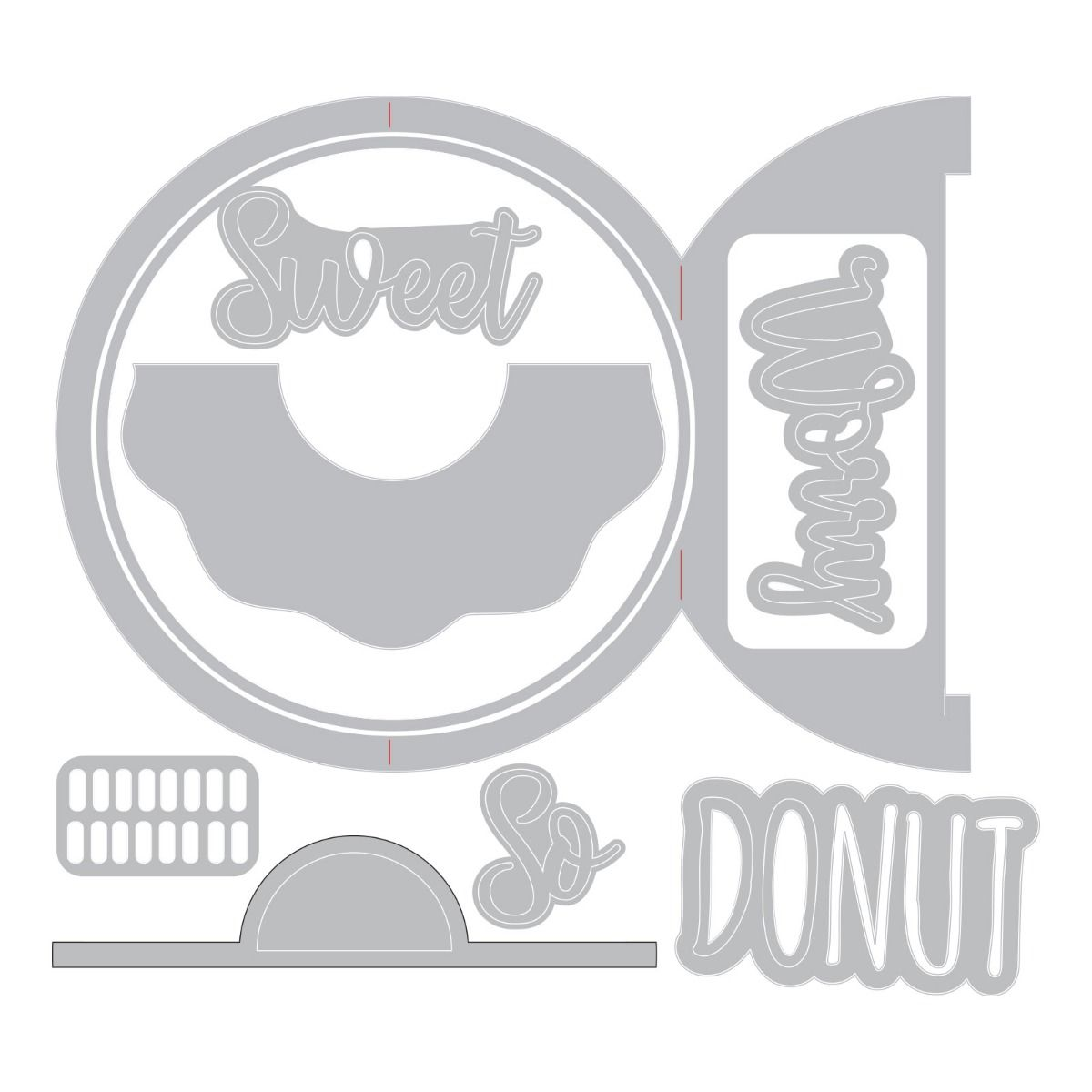 662725 Wykrojnik Thinlits  - Card, Donut Fold-a-Long