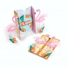 662726 Wykrojnik Thinlits  - Card, Flamingo Fold-a-Long