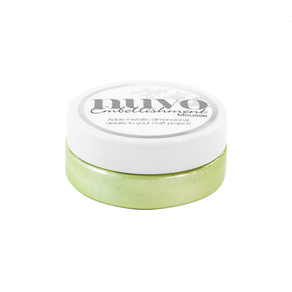 808N Mus Nuvo Embellishment Mousse-Spring Green