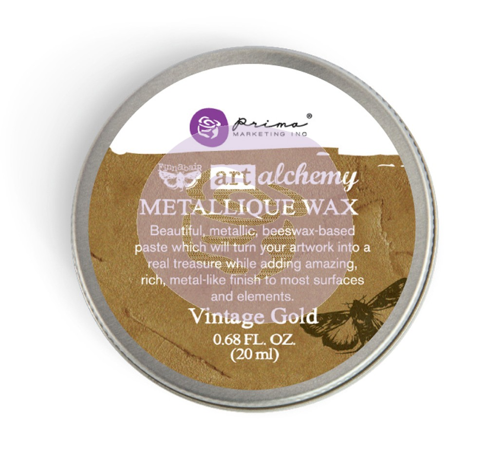 963958 Wosk metaliczny Art Alchemy- Metalique Wax - Finnbair -Vintage Gold