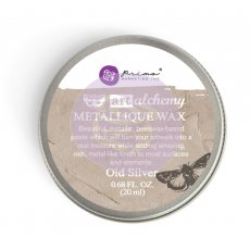 963996 Wosk metaliczny Art Alchemy- Metalique Wax - Finnbair -Old Silver