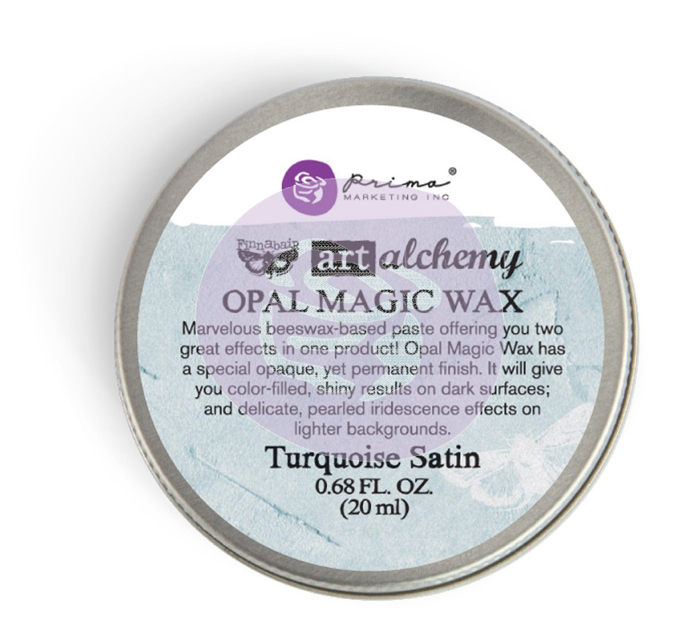 964276 Wosk opalizujący Art Alchemy- Opal Magic Wax - Finnbair -Turquoise Satin