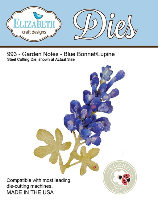 993 Wykrojniki Elizabeth Craft Designs - Garden Notes - Bluebonnet Lupine