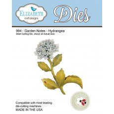 994 Wykrojniki Elizabeth Craft Designs - Garden-Notes Hydrangea