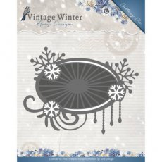 ADD10124 Wykrojnik Amy Design - Snowflake Swirl Label