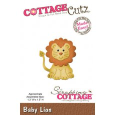CC-008 Wykrojnik mini lew -CottageCutz Baby Lion