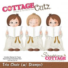CC-021 Wykrojnik trio chór-CottageCutz Trio Choir (W Stamps)