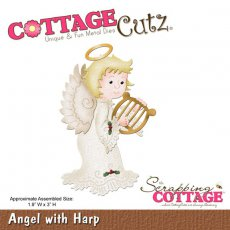 CC-024 Wykrojnik anioł z harfą-CottageCutz Angel with Harp