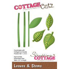 CC-133 Wykrojniki CottageCutz -Leaves & Stems