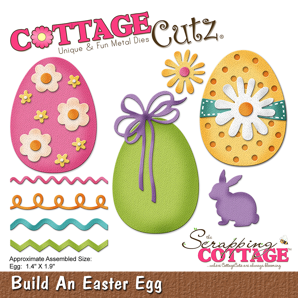 CC-233 Wykrojnik CottageCutz -Build An Easter Egg-jajka