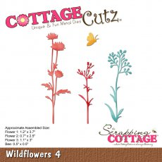 CC-248 Wykrojnik CottageCutz Wildflowers 4