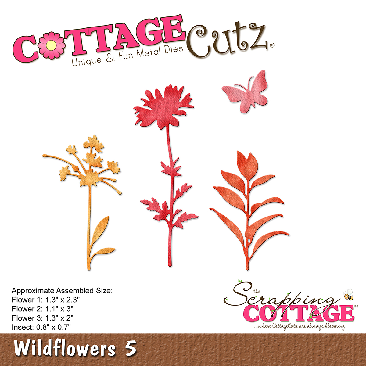 CC-249 Wykrojnik CottageCutz Wildflowers 5