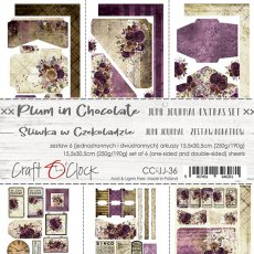 CC-JJ-36 PLUM IN CHOCOLATE - JUNK JOURNAL SET - ZESTAW DODATKÓW