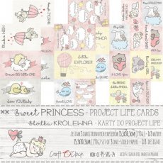 CC-PL-SPG-24 SWEET PRINCESS - zestaw kart do Project Life