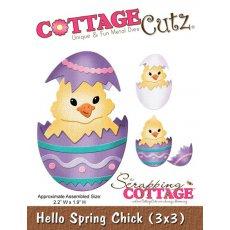 CC3x3-107 Wykrojnik pisklę -CottageCutz Hello Spring Chick (3x3)