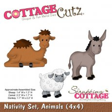 CC4x4-430 Wykrojnik zwierzęta -CottageCutz Nativity Set, Animals (4x4)