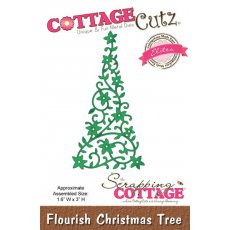 CCE-038- Wykrojnik Flourish Christmas Tree (Elites)