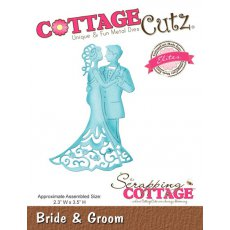 CCE-128 Wykrojnik młoda para-CottageCutz Bride & Groom (Elites)