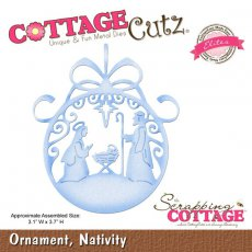 CCE-185 Wykrojnik bombka z szopką-CottageCutz Ornament, Nativity (Elites)
