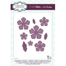 CED1432 Wykrojniki Finishing Touches Collection Perfect Peony - Complete Petals Die