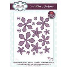 CED1445 Wykrojniki Finishing Touches Collection Orange Blossom-Complete Petals Die