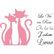 COL1344 Marianne Design Collectable - French Cats