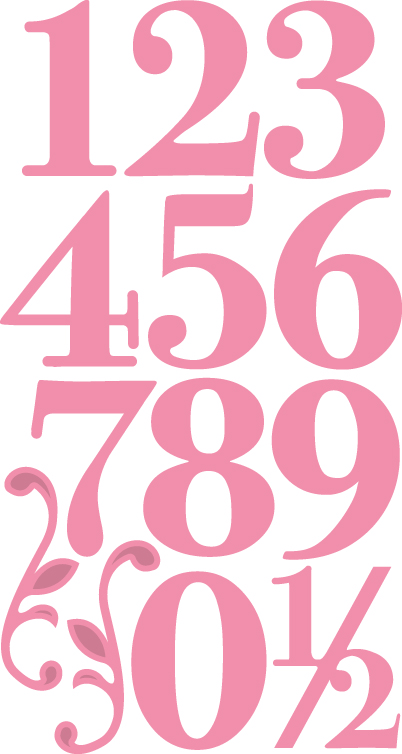 COL1418 Marianne Design Collectable - Elegant numbers