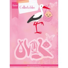 COL1420 Marianne Design Collectable - Eline\'s Baby stork