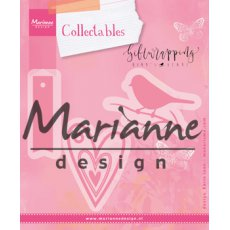 COL1443 Marianne Design Collectable -ptaszek,serce,tag