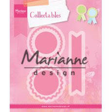 COL1444 Marianne Design Collectable -Rosettes&labels-rozetki i etykietki