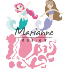 COL1467 Wykrojniki Marianne Design - Colletables - Mermaids by Marleen - Syreny
