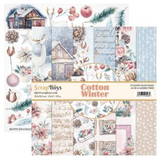 COWI-08 Zestaw papierów 30,5x30,5 cm Scrap Boys-Cotton Winter