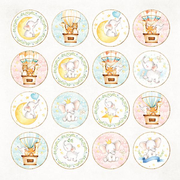 CP-BA08 Односторонние бумажные элементы-Craft & You Design 30.5x30.5 Детское приключение