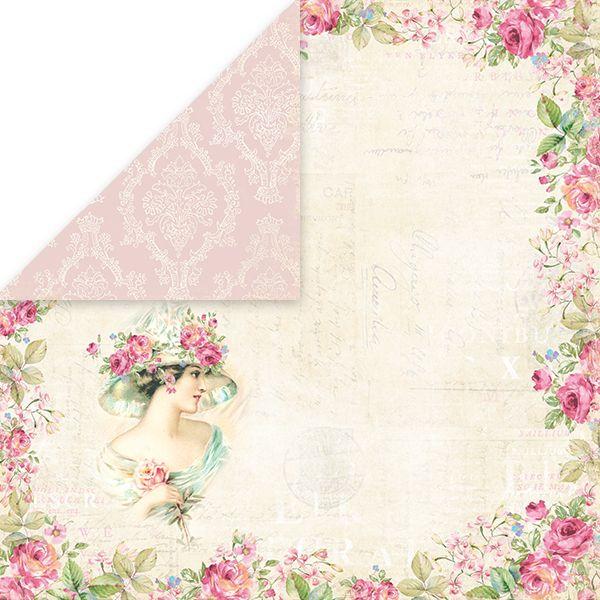 CP-BR01 Двусторонняя бумага Craft & You Design 30,5х30,5 Беллиссима Роза 01