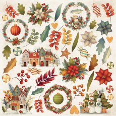 CP-CC07 Papier jednostronny-elementy-Craft&You Design 30,5x30,5 COLORS of CHRISTMAS 07