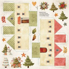 CP-CC09 Papier jednostronny-elementy-Craft&You Design 30,5x30,5 COLORS of CHRISTMAS 09