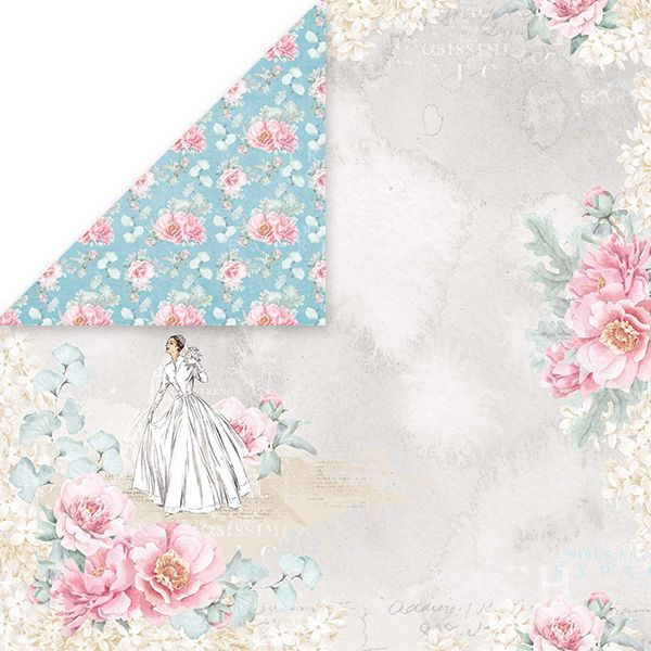 CP-PW01 Papier dwustronny Craft&You Design 30,5x30,5 Pastel Wedding 01