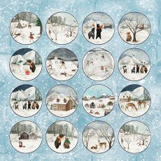 CP-WH07 Papier jednostronny-elementy-Craft&You Design 30,5x30,5 WINTER HOLIDAY 07