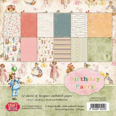 CPB-BP30 Bloczek 30,5x30,5Craft&You Design- Birthday Party