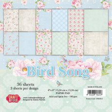 CPB-BS15 Bloczek 15x15 Craft & You Design - Bird Song
