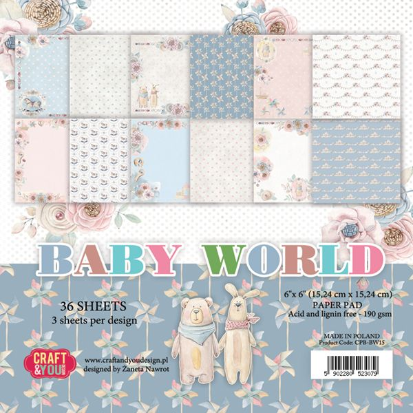 CPB-BW15 Bloczek 15x15 Craft & You Design -Baby World