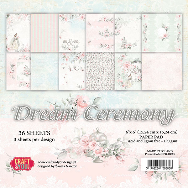CPB-DC15 Bloczek 15x15 Craft&You Design-Dream Ceremony