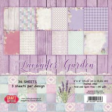 CPB-LG15 Bloczek 15x15 Craft & You Design -  Lavender Garden