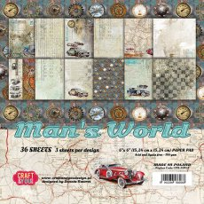 CPB-MAN15 Bloczek 15x15 Craft&You Design-Man's World