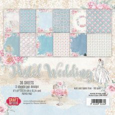 CPB-PW15 Bloczek 15x15 Craft & You Design -Pastel Wedding