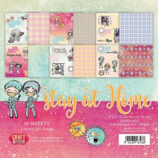 CPB-SAH15 Bloczek 15x15 Craft&You Design-Stay at Home