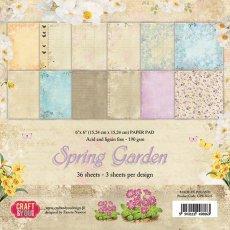 "CPB-SG15 Bloczek papierów 6x6"" Spring Garden"